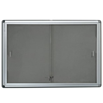 Key Locking Sliding Glass Door Noticeboard H405